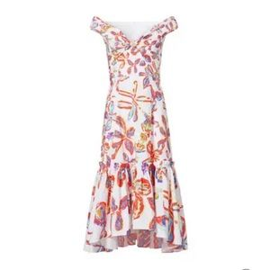 Peter Pilotto White Floral Sweetheart Dress
